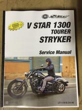 2011-2017 Yamaha V Star 1300 / Tourer / Stryker (up to 2014) Part# LIT-11616-24-48 service shop repair manual