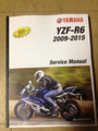 2009-2016 Yamaha YZF-R6 Part# LIT-11616-22-51 service shop repair manual