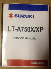 2014-2018 Suzuki King Quad 750 / LT-A750X / XP Part# 99500-47030-03E service shop repair manual