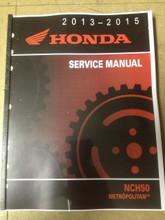 2013-2015 Honda Metropolitan /  NCH50 Part# 61GGL02 service shop repair manual