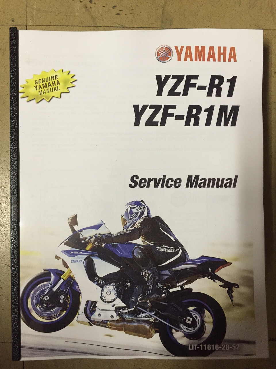 2015 Yamaha YZF-R1 / YZF-R1M Part# LIT-11616-28-52 service shop repair  manual