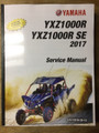 2017 Yamaha YXZ1000R SE, side X side, Part# LIT-11616-30-12 service shop repair manual