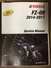 2014-2017 Yamaha FZ-09 Part# LIT-11616-27-39 service shop repair manual