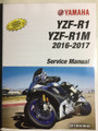 2016-2017 Yamaha YZF-R1 / YZF-R1M Part# LIT-11616-29-54 service shop repair manual