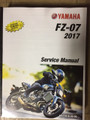 2017 Yamaha FZ-07 / ABS Part # LIT-11616-30-56 service shop repair manual