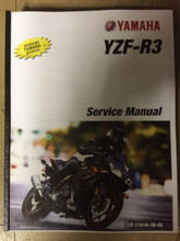 2017-2019 Yamaha YZF-R3 ABS Part# LIT-11616-30-55 service shop repair manual