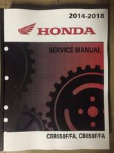 2016 2017 2018 Honda CBR650F / CBR650FA / CB650F / CB650FA Part# 61MJE03 service shop repair manual