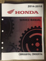 2016 2017 2018 Honda CBR650F / CBR650FA / CB650F / CB650FA Part# 61MJE03 service shop repair manual