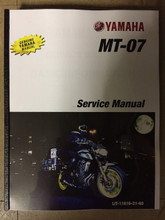 2018-2019 Yamaha MT-07 Part# LIT-11616-31-60 service shop repair manual