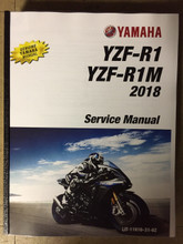 2018 Yamaha YZF-R1 / YZF-R1M Part# LIT-11616-31-62 service shop repair manual