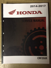 2014-2017 Honda CRF250R Part# 61KRN63 service shop repair manual