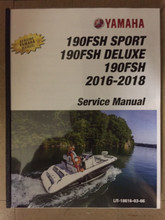 2016-2018 Yamaha PWC Jet Boat 190FSH / 190FSH Sport / 190FSH Deluxe Part# LIT-18616-03-66 service shop repair manual