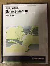 2017-2019 Kawasaki Mule SX / KAF400 / H / J / K / L / M / N Part# 99924-1513-03 service shop repair manual