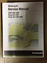2016-2019 Kawasaki ZX-14R / ZZR1400 / ABS Part# 99924-1508-04 service shop repair manual