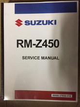 2018-2019 Suzuki RM-Z450 Part# 99500-37K00-01E service shop repair manual