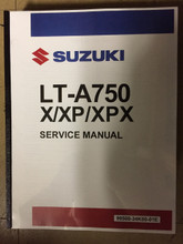 2019 Suzuki King Quad 750 / LT-A750X / LT-A750XP / LT-A750XPX Part# 99500-34K00-01E service shop repair manual