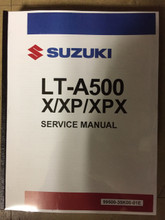 2019 Suzuki King Quad 500 / LT-A500X / LT-A500XP / LT-A500XPX Part# 99500-35K00-01E  service shop repair manual