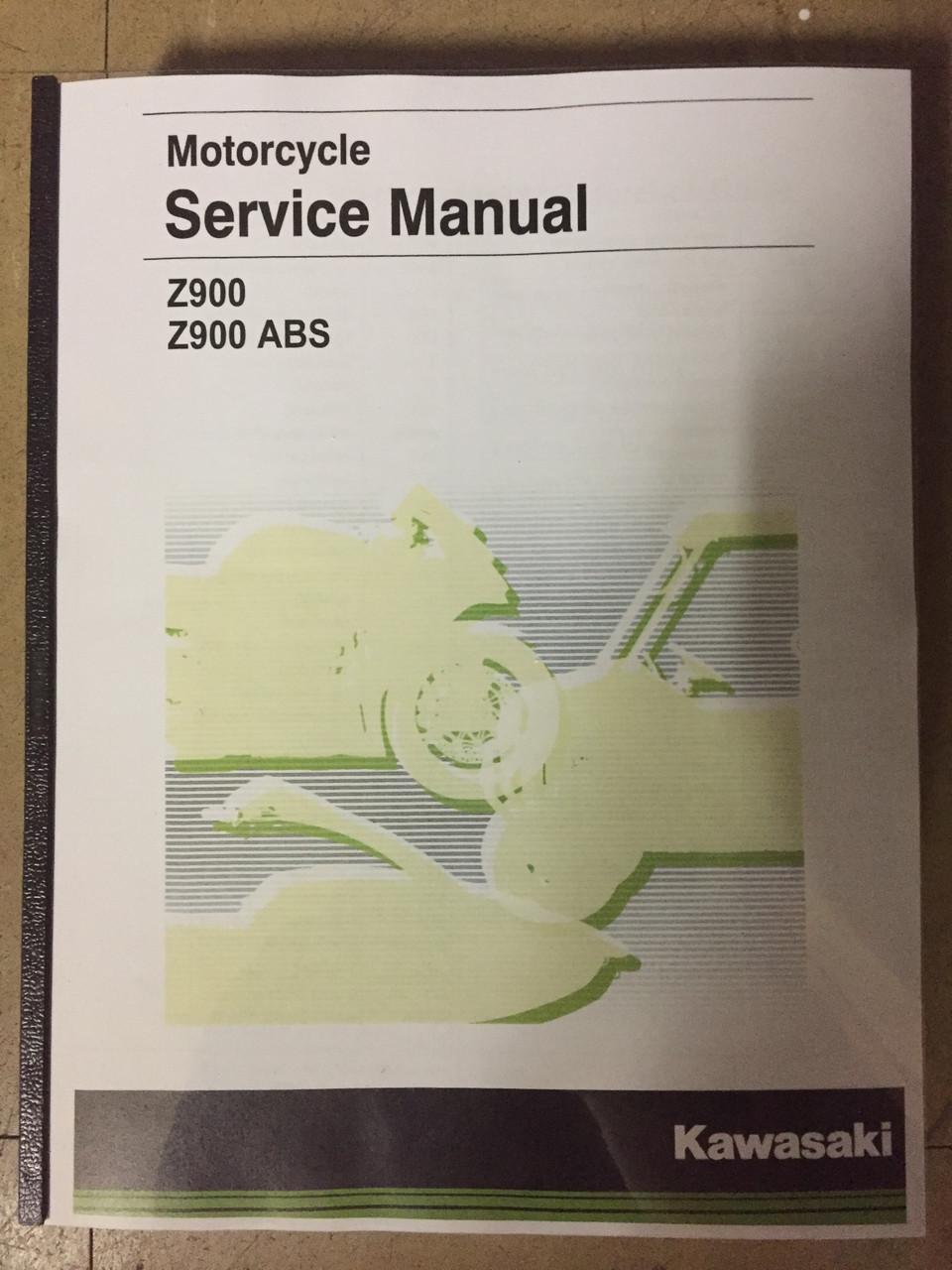 2017-2019 Kawasaki Z900 / ABS Part# 99924-1525-04 service shop repair manual