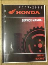 2003-2017 Honda NPS50 Ruckus Part# 61GEZ13 service shop repair manual