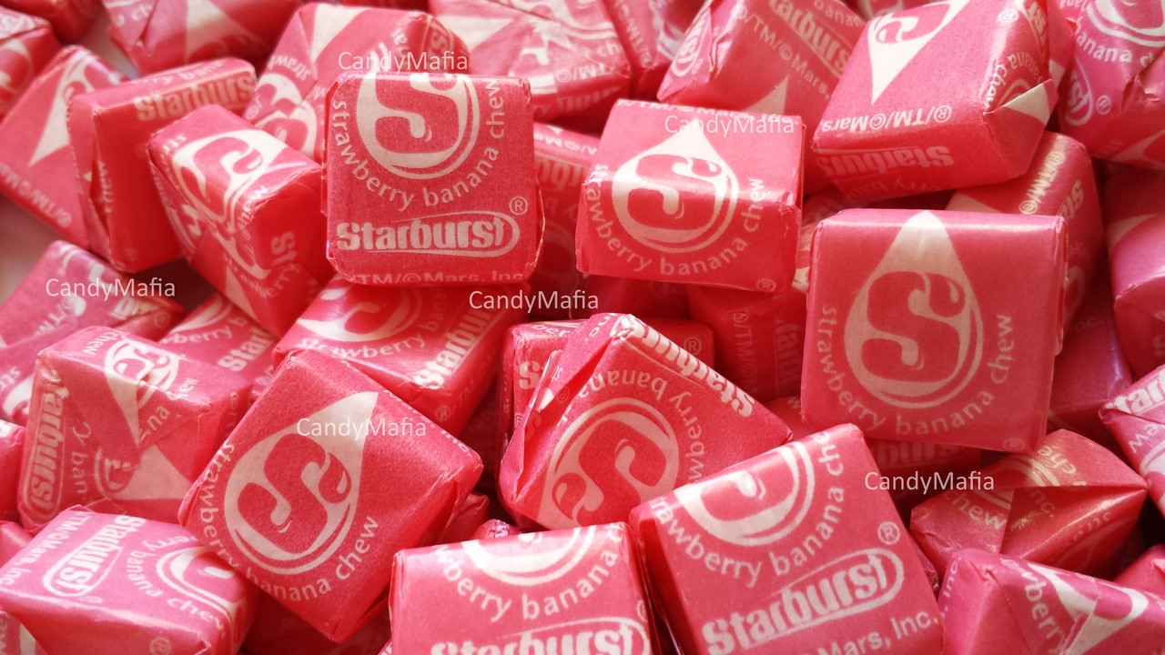 Strawberry Banana Starburst Chewy Candy 2 pounds