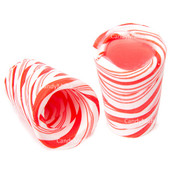Candy Cane Mini Glass