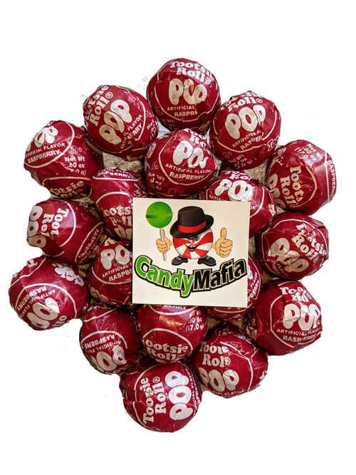 Red Raspberry Tootsie pops 60 pops  Red Tootsie Pop