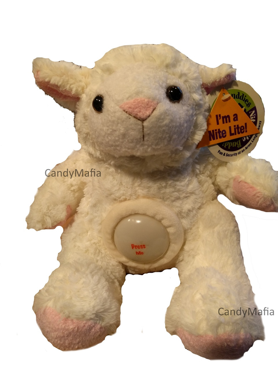 Stuffed Animal With Night Light Extremely Soft Plush White Lamb With