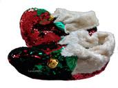 Santa Sequin Slippers