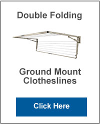 Double Ground Mounted Folding Clotheslines