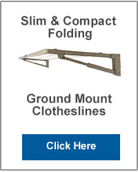 Slim Ground Mounted Folding Clotheslines