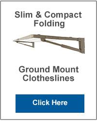 Slim Ground Mounted Folding Clotheslines