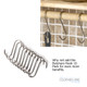 Seven Lath Victorian Ceiling Airer Butchers Hook Option