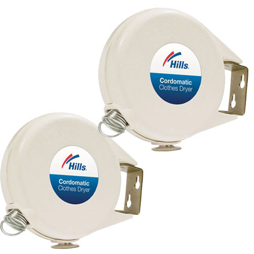 Two Pack Hills Cordomatic Retractable Clothesline 2x100013