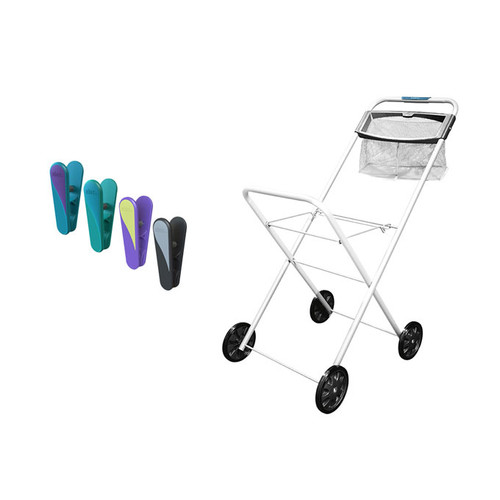 Hills Premium Laundry Trolley and 50 Peg Combo Pack