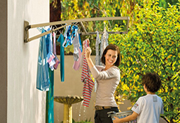 Clotheslines For Small Backyards the clothesline store has a full range of washing lines from hills