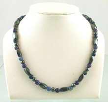Magnetic necklace made with triple strength magnetic Hematite combined with Amethyst and Sodalite gemstones