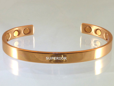 Our magnetic copper bracelet is elegantly made of smooth copper for a simple look. This copper bracelet for arthritis is purchased most often by men wanting jewelry to go unnoticed.