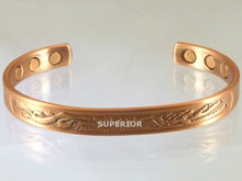 Our copper bracelet for Arthritis with an embossed Dragon and Phoenix motif is very popular