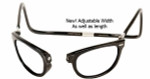 Clic Designer Eyeglasses Ashbury Style in Black 'Wide Fit' :: Progressive