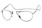 Clic Designer Eyeglasses Aviator Style in Silver :: Progressive