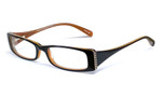 Calabria Viv 652 Designer Eyeglasses in Black-Brown :: Rx Bi-Focal