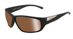 Bollé Marine Sunglasses: Keel in Matte-Black with Polarized Inland Gold