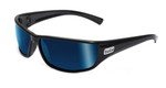 Bollé Marine Sunglasses: Python in Shiny-Black with Polarized Offshore Blue