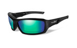 Wiley X Echo in Gloss-Black & Polarized Emerald Lens