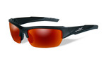 Wiley X Valor in Two-Toned Black & Polarized Crimson Mirror Lens