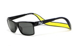 Hoven Eyewear MONIX in Black Gloss with Yellow & Grey Polarized