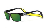 Hoven Eyewear MONIX in Black Gloss with Yellow & Green Polarized