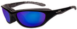 Wiley X AirRage in Gloss Black & Polarized Blue Mirror
