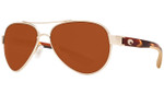 Costa Del Mar Loreto 580P Polarized Sunglasses in Rose Gold & Copper Lens
