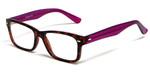 Soho 1014 in Demi Tortoise & Purple Designer Reading Glass Frames :: Custom Left & Right Lens